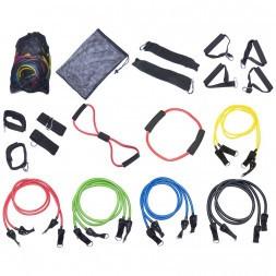 Эспандер многофункциональный 1213-11 Resistance band kit 10 жгутов