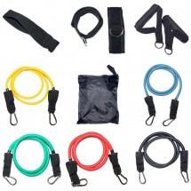 Эспандер многофункциональный Resistance Band 5 жгутов, манжеты, ручки (термопластичная резина)