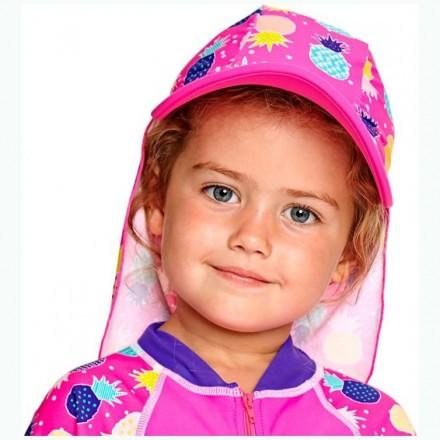 Кепка детская с защитой для шеи ZOGGS Pine Crush Sun (1-6 лет)
