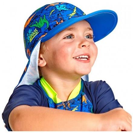 Кепка детская с защитой для шеи ZOGGS Dino Land Sun