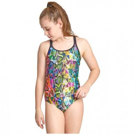 Купальник слитный детский ZOGGS Junior Girls Zany Skin Duoback
