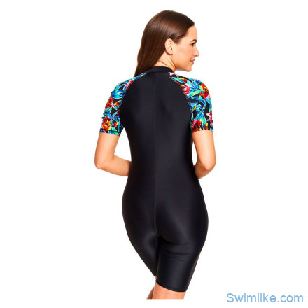 Купальник-комбинезон слитный ZOGGS Hybrid Tropics Kneesuit