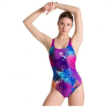 Купальник слитный Arena Palm Print Swim Pro Back