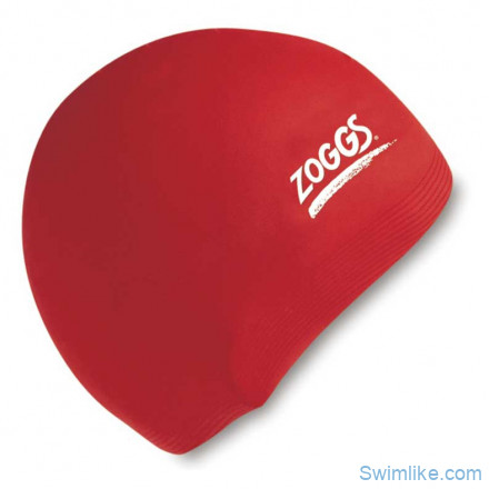 Шапочка для плавания ZOGGS Silicone Red