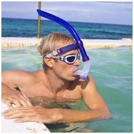 Трубка для плавания ZOGGS Centre Line Snorkel (с зажимом для носа в комплекте)